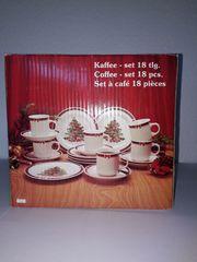 Kaffee- Set mit Weihnachtsmotiven kaum