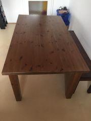 Holztisch Fichte lackiert inkl 4x