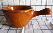 Keramik Pfännchen mit Griff aus
