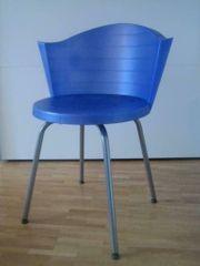 Blauer Drehstuhl von Ikea Kunststoff