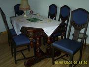Herrentisch mit 6 Hochlehnstühlen