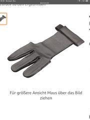 Lederhandschuh Fingerschutz Bogenschießen ungetragen Größe
