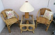Elegante Garnitur Bambus Möbel 2