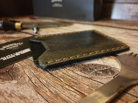 Kreditkartenetui vintage style Leder