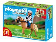 Playmobil Haflinger mit grün-beiger Pferdebox