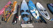 Große Surfausrüstung 3x Board 4