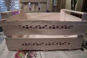 Kiste rosa Holzkiste Obstkiste DIY