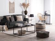 2-Sitzer Sofa Polsterbezug schwarz KALMAR neu