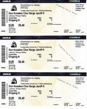 Biete 3 Eintrittskarten Don Kosaken
