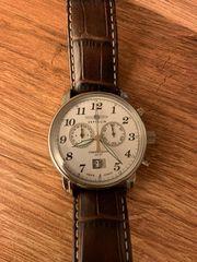 schöne Herrenuhr Zeppelin Chronograph