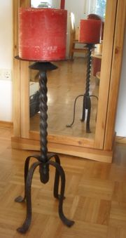Massiver 60cm Kerzenständer aus Gusseisen