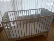Gitterbett Ikea Höhenverstellbar inkl Matratze