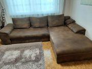 Couch Wohnlandschaft mit Schlaffunktion und