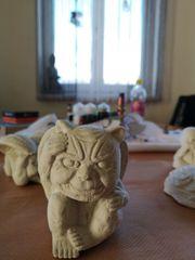 Weiss Zement Figur