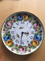 Porzellan Wanduhr Durchmesser 31 5
