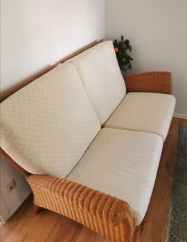Polster, Sessel, Couch - Rattan Couch