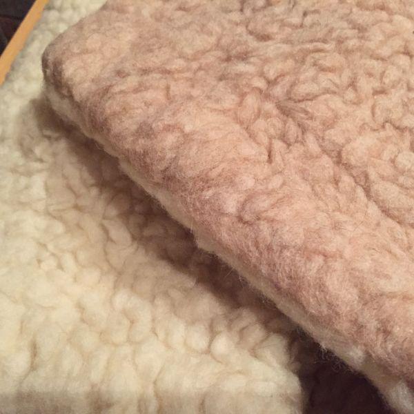 Set Unterbett Kissenüberzug - reine Schafschurwolle
