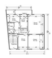 4-Zi - Wohnung 88 qm Bad