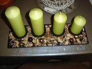 Kerzenständer mit Deko