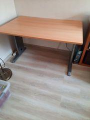 Schreibtisch Eiche hell mit Metallfüße