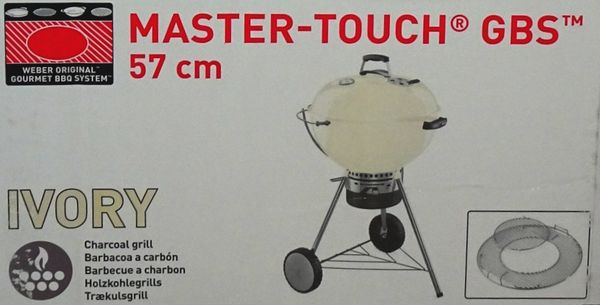 Weber Holzkohlegrill 57 Cm : Weber holzkohlegrill master touch gbs 57cm ivory originalverpackt