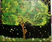 Acrylmalerei Baum auf Leinwand 50x60cm