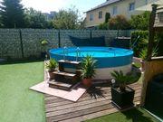 Pool Schwimmbecken 4m x 1
