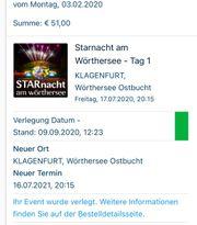 7x Eintrittskarten Starnacht am Wörthersee