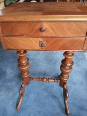 Louis Philippe Antik Nähtischchen Tisch