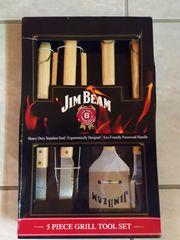 Grillbesteck Jim Beam Holzgriffe 5