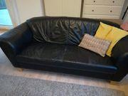 3-teilig Couch Sofa aus Echtleder