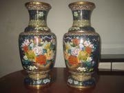 2 alte Chinesische cloisonne Vasen
