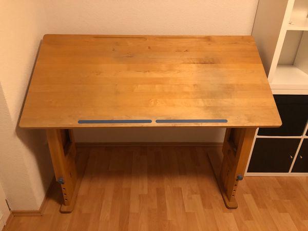 Schreibtisch Erle massiv Massivholz Holz