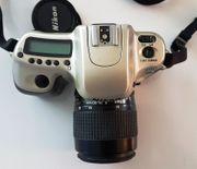 Nikon F50 mit Original Nikon-Objektiv