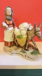 PORZELANFIGUR Alte Deko Porzellanfigur Oma