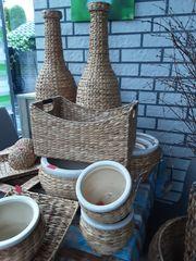 Dekoartikel- Vasen Übertöpfe Körbe usw