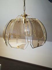 Hängelampe Esszimmer Lampe Messing Glas