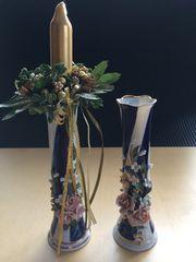 2 Vasen Kerzenhaltern Kerzenständer Höhe