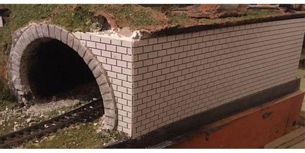 Stützmauer 200x40x1 für Geländetabelle Für