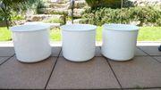 3 schöne große weiße Keramik