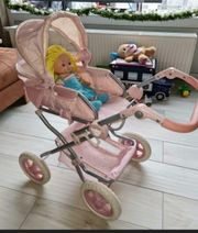 toller Puppenwagen rosa Glitzer