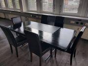 Bürotisch Konferenztisch Esche mit Ledereinlage