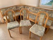Sitzgruppe Eckbank und Stühle