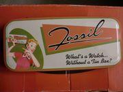 Blechdose Fossil Uhrendose Tin Box