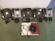 Agfeo Telefonanlage mit 5 Systemtelefonen