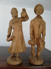 Schönes Pärchen aus Holz Handarbeit