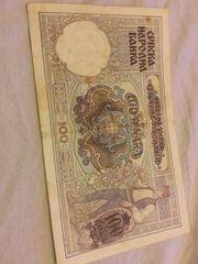 100 Dinara Banknote 1929 zu