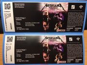 2 Tickets Metallica FRONT OF