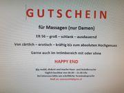 Massage-Gutschein zu verschenken