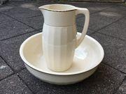 Antike Waschschüssel mit Krug Villeroy